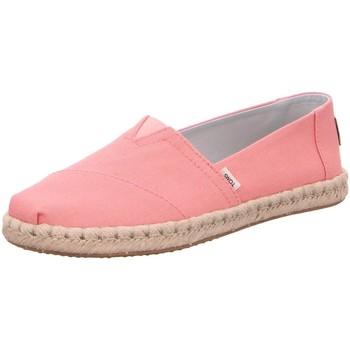 Schuhe Damen Slip on Toms Slipper Alpargata 10015058 pink Canvas Rope 10015058 rosa
