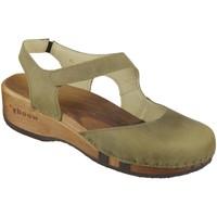 Schuhe Damen Sandalen / Sandaletten Woody Sandaletten Nicole 16542 olivia olivia Fettleder 16542 olivia grün