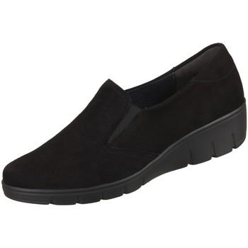 Schuhe Damen Slip on Semler Slipper Judith J7025042001 Samt-Chevro J7025042001 schwarz