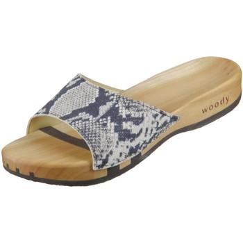 Schuhe Damen Pantoffel Woody Pantoletten Heidi 6051 schlange schlange 6051 schlange schwarz