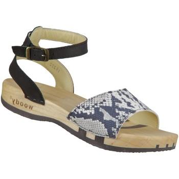 Schuhe Damen Sandalen / Sandaletten Woody Sandaletten Jana 16222 schlange schlange Leder 16222 schlange schwarz
