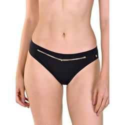 Kleidung Damen Bikini Ober- und Unterteile Lisca Ancona -Badeanzug-Strümpfe Perlschwarz