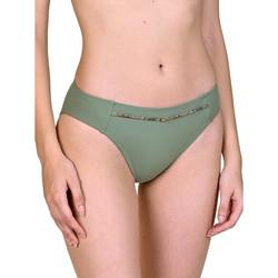 Kleidung Damen Bikini Ober- und Unterteile Lisca Ancona -Badeanzug-Strümpfe Dunkelgrün