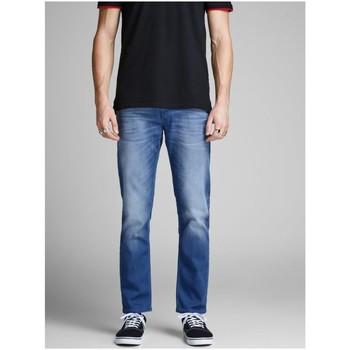 Kleidung Herren Straight Leg Jeans Jack & Jones Accessoires Bekleidung Tim Leon 12147077 L32 blau