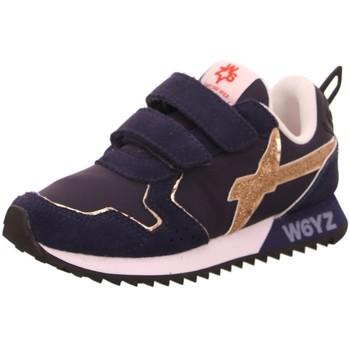 Schuhe Jungen Sneaker Low W6yz Klettschuhe Bimbo Jet 1C06-001-2013567-01 blau