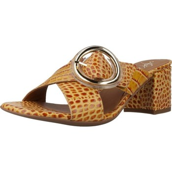 Schuhe Damen Pantoffel Alpe 4694 56 Brown
