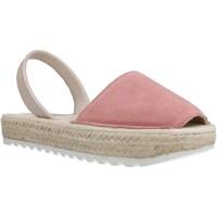 Schuhe Mädchen Leinen-Pantoletten mit gefloch Ria 21920 2 Rosa