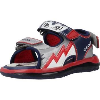 Schuhe Jungen Sportliche Sandalen Geox B SANDAL TODO BOY Rot