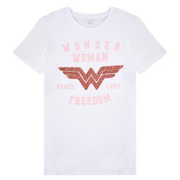 Kleidung Mädchen T-Shirts Name it NKFWONDERWOMEN Weiss