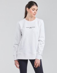 Kleidung Damen Sweatshirts Tommy Hilfiger TH ESS HILFIGER C-NK SWEATSHIRT Weiss