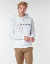 Kleidung Herren Sweatshirts Tommy Hilfiger TOMMY LOGO HOODY Weiss