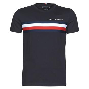 Kleidung Herren T-Shirts Tommy Hilfiger GLOBAL STRIPE TEE Marine
