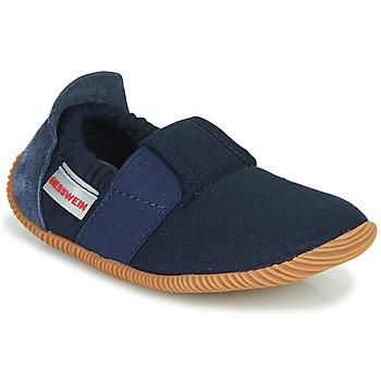 Schuhe Kinder Hausschuhe Giesswein SOLL Marine