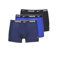 Unterwäsche Herren Boxer Nike EVERYDAY COTTON STRETCH Schwarz / Marine / Blau