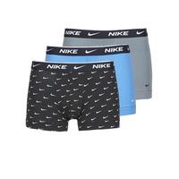 Unterwäsche Herren Boxer Nike EVERYDAY COTTON STRETCH Schwarz / Grau / Blau