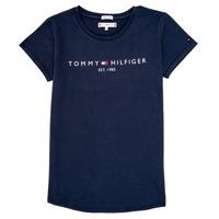 Kleidung Mädchen T-Shirts Tommy Hilfiger KG0KG05242-C87 Marine