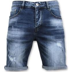 Kleidung Herren Shorts / Bermudas Enos Kurze Hosen Ripped Short Blau