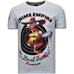 Kleidung Herren T-Shirts Local Fanatic Verbrechen Reich Weiß