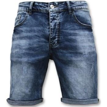 Kleidung Herren Shorts / Bermudas Enos Kurze Hosen Kurz Blau
