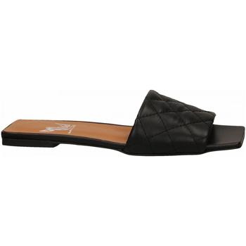 Schuhe Damen Pantoffel Mivida CHIFFON nero