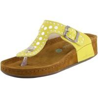 Schuhe Damen Pantoletten / Clogs Wolkenwerk Pantoletten 10224-220 gelb