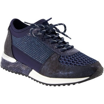 Schuhe Damen Sneaker Low La Strada Schnuerschuhe 1904004 navy blau