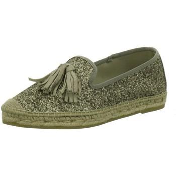 Schuhe Damen Leinen-Pantoletten mit gefloch Vidorreta Slipper Slipper-Espantrillos 16304-1/1 grün