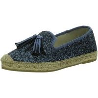 Schuhe Damen Leinen-Pantoletten mit gefloch Vidorreta Slipper Slipper-Espandrillos 16304-3/3 blau