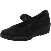 Schuhe Damen Ballerinas Semler Slipper SAMT-CHEVRO J7095042/080 blau