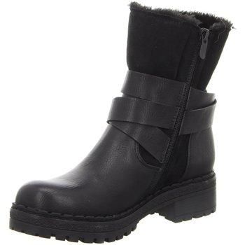 Schuhe Damen Schneestiefel Laufsteg München Stiefeletten HW190801 BLACK schwarz