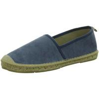 Schuhe Herren Leinen-Pantoletten mit gefloch Vidorreta Slipper Espantrillos 40600-4/4 blau