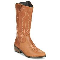 Schuhe Damen Klassische Stiefel Musse & Cloud TEDINA Cognac