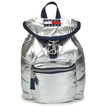 Taschen Damen Rucksäcke Tommy Jeans TJW HERITAGE SM PUFFER BACKPACK Silbern
