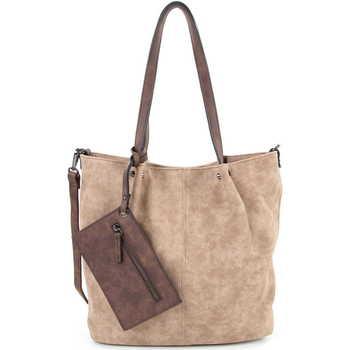 Taschen Damen Shopper / Einkaufstasche Emily & Noah Shopper Bag in Bag Surprise taupe brown 902