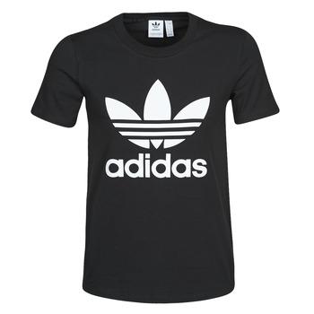 Kleidung Damen T-Shirts adidas Originals TREFOIL TEE Schwarz