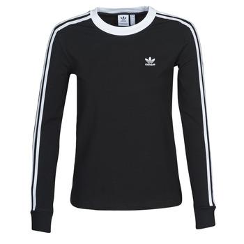 Kleidung Damen Langarmshirts adidas Originals 3 STR LS Schwarz