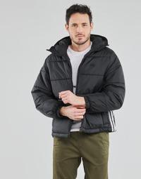Kleidung Herren Daunenjacken adidas Originals PAD HOODED PUFF Schwarz