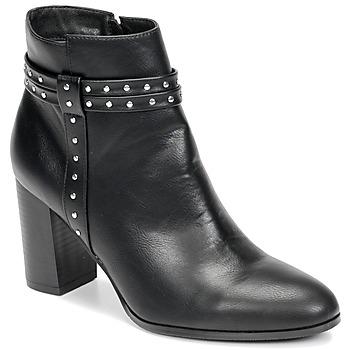 Schuhe Damen Low Boots Moony Mood NINOU Schwarz