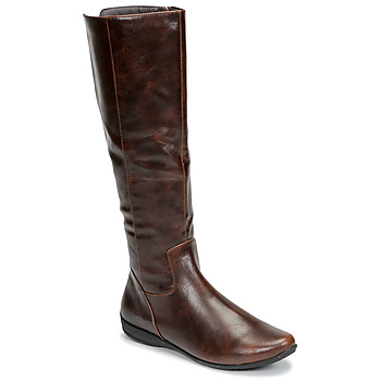Schuhe Damen Klassische Stiefel Moony Mood GURLEN Braun