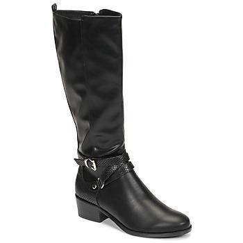 Schuhe Damen Klassische Stiefel Moony Mood NELLE Schwarz