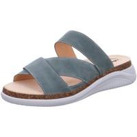 Schuhe Damen Pantoletten / Clogs Ganter Pantoletten Pantolette HOLLY 200212-5100 blau
