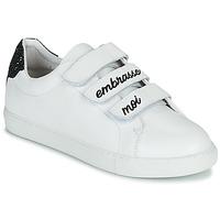 Schuhe Damen Sneaker Low Bons baisers de Paname EDITH EMBRASSE MOI Weiss