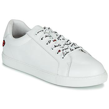 Schuhe Damen Sneaker Low Bons baisers de Paname SIMONE IN LOVE LACETS Weiss