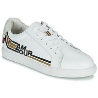 Schuhe Damen Sneaker Low Bons baisers de Paname SIMONE AMOUR RETRO Weiss / Gold