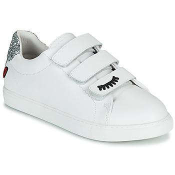 Schuhe Damen Sneaker Low Bons baisers de Paname EDITH EYES Weiss