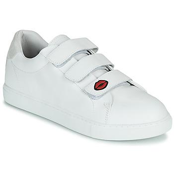 Schuhe Damen Sneaker Low Bons baisers de Paname EDITH LEGENDE Weiss