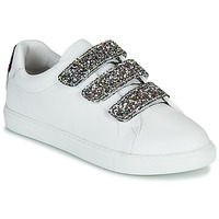 Schuhe Damen Sneaker Low Bons baisers de Paname EDITH GLITTER TONGUE Weiss