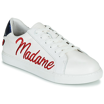Schuhe Damen Sneaker Low Bons baisers de Paname SIMONE MADAME MONSIEUR Weiss