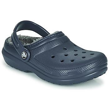 Schuhe Kinder Pantoletten / Clogs Crocs CLASSIC LINED CLOG K Blau