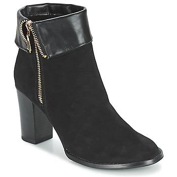 Schuhe Damen Low Boots Moony Mood FRISETTE Schwarz